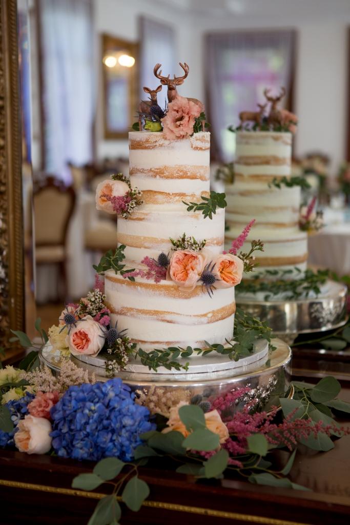 gâteau de mariage, nude cake, chevreuil